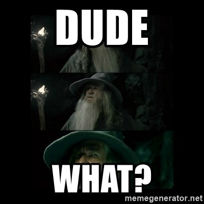 Confused Gandalf - dude what?
