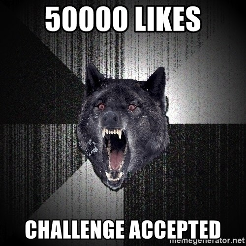 flniuydl - 50000 Likes Challenge Accepted