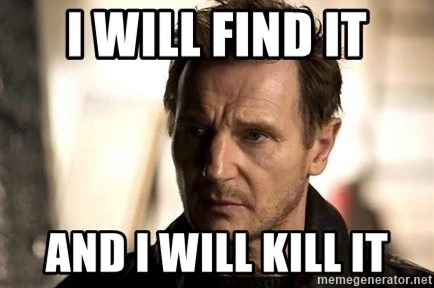 Liam Neeson meme - I will find it and I will kill it