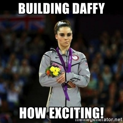 Unimpressed McKayla Maroney - Building Daffy How Exciting!