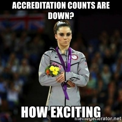 Unimpressed McKayla Maroney - Accreditation counts are down? How exciting