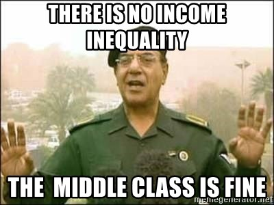 Iraqi Information Minister - There is no income inequality the  middle class is fine