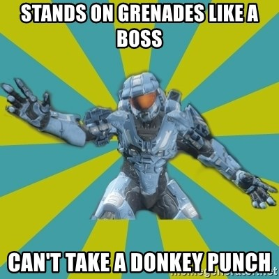 HALO 4 LOCO - stands on grenades like a boss can't take a donkey punch