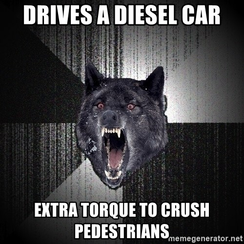 Insanity Wolf - Drives a diesel car extra torque to crush pedestrians
