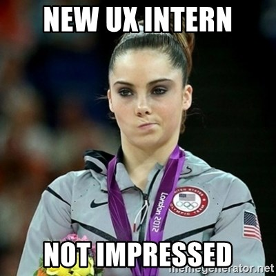 Not Impressed McKayla - New UX intern not impressed