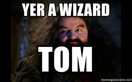 Yer A Wizard Harry Hagrid - Yer a wizard tom