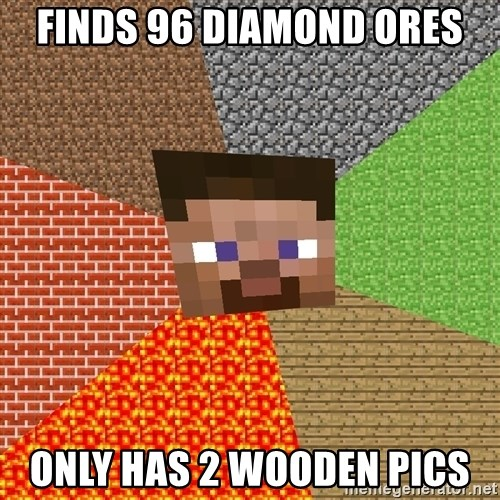 Minecraft Guy - FINDS 96 DIAMOND ORES ONLY HAS 2 WOODEN PICS