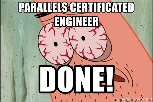 Patrick - PArallels certificated engineer Done!