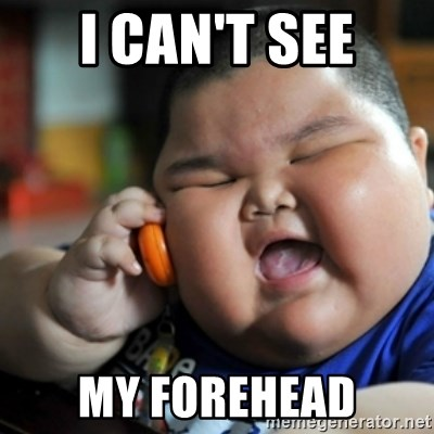 fat chinese kid - I CAN'T SEE MY FOREHEAD