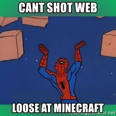 60's spiderman - Cant shot web loose at minecraft