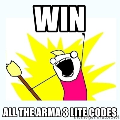 All the things - Win All the arma 3 lite codes