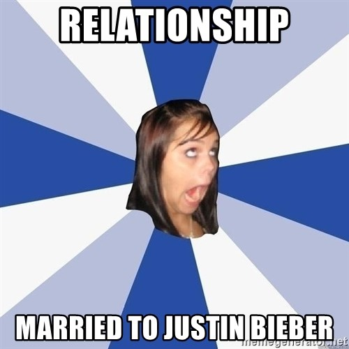 Annoying Facebook Girl - RElationship Married to Justin Bieber