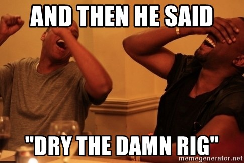 "Jay-Z & Kanye Laughing - and then he said ""dry the damn rig"""