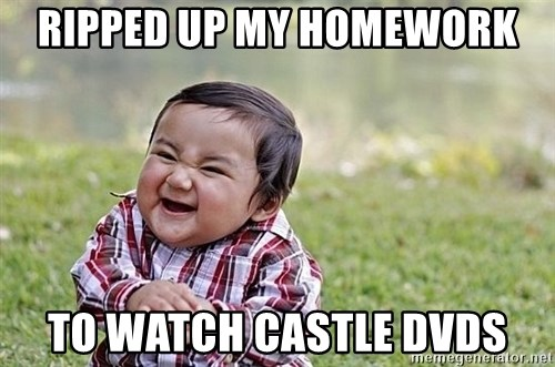 Evil Asian Baby - Ripped up my homewoRk To watch castle Dvds