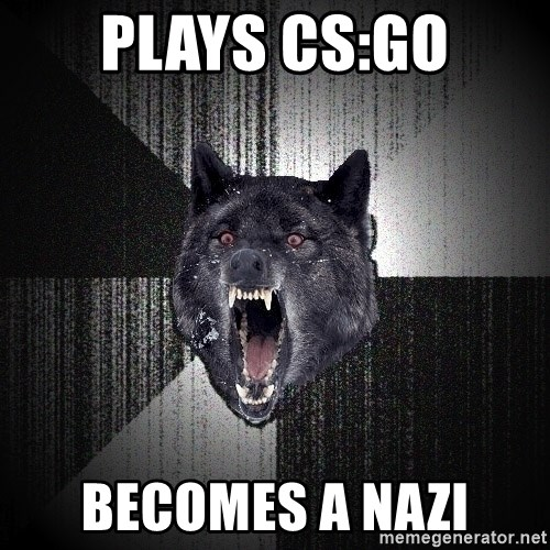 Insanity Wolf - Plays cs:go becomes a nazi