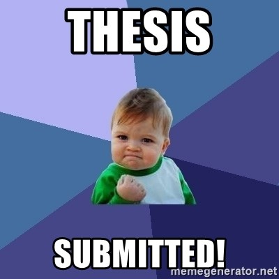 Success Kid - Thesis submitted!