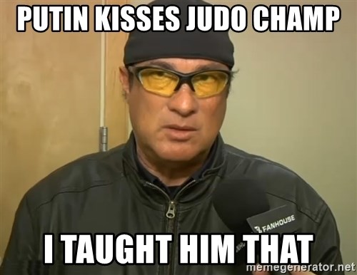 Steven Seagal Mma - Putin Kisses Judo Champ i taught him that