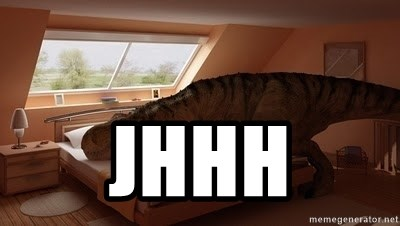 T Rex Makes Bed -  JHHH