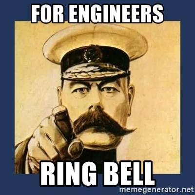 your country needs you - for engineers ring bell