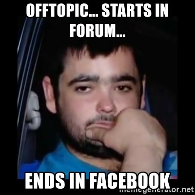 just waiting for a mate - offtopic... starts in forum... ends in Facebook