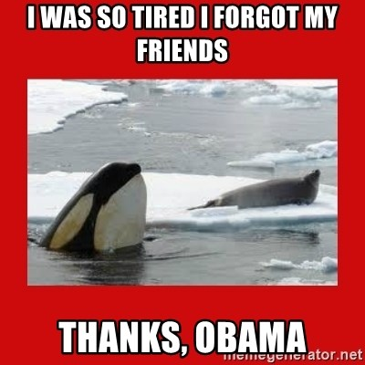 Thanks Obama! - I was so tired i forgot my friends thanks, obama