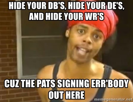 Antoine Dodson - Hide your DB's, Hide your DE's, and hide your Wr's Cuz the Pats signing Err'body Out here