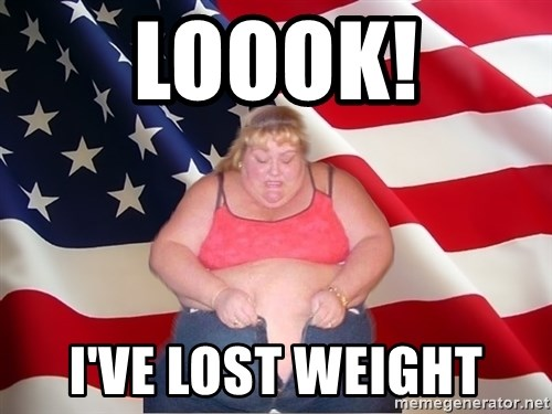Asinine America - loook! i've lost weight