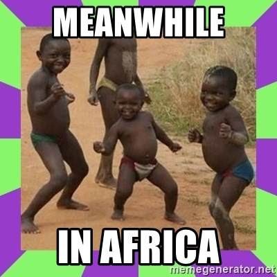 african kids dancing - MEANWHILE  IN AFRICA