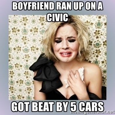 Crying Girl - BOYFRIEND RAN UP ON A CIVIC GOT BEAT BY 5 CARS
