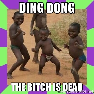 african kids dancing - DING DONG THE BITCH IS DEAD