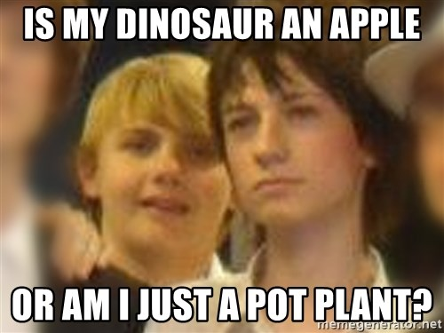 Thoughtful Child - IS MY DINOSAUR AN APPLE OR AM I JUST A POT PLANT?
