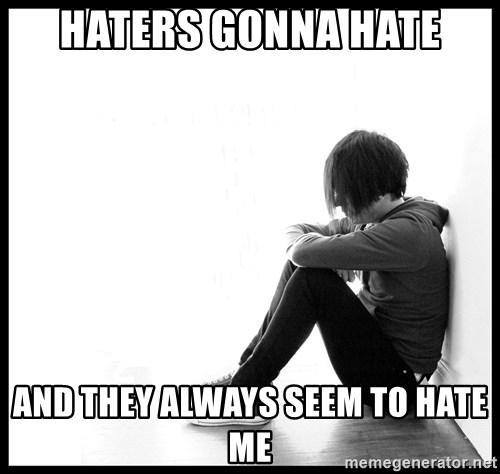 First World Problems - haters gonna hate and they always seem to hate me