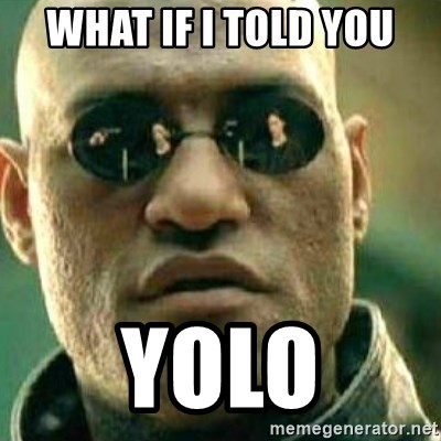 What If I Told You - what if i told you yolo