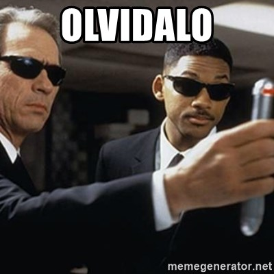 men in black - OLVIDALO