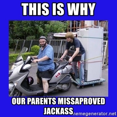 Motorfezzie - this is why our parents missaproved jackass