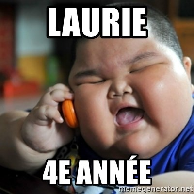 fat chinese kid - laurie 4e année