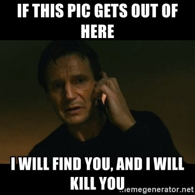 liam neeson taken - IF THIS PIC GETS OUT OF HERE I WILL FIND YOU, AND I WILL KILL YOU