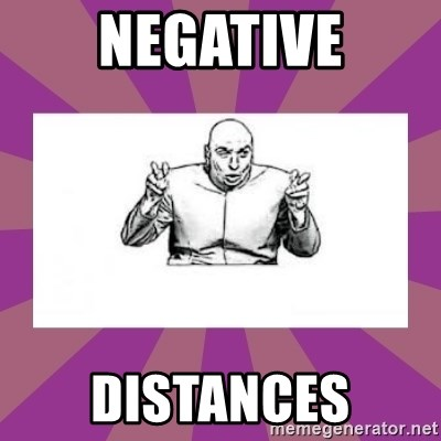 'dr. evil' air quote - Negative Distances