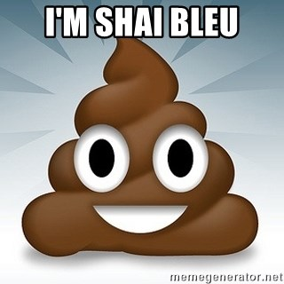 Facebook :poop: emoticon - i'm shai bleu