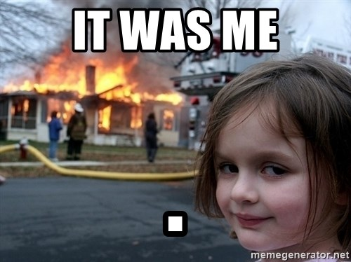 Disaster Girl - it was me .