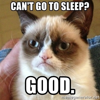 Grumpy Cat  - Can't go to sleEp? Good.
