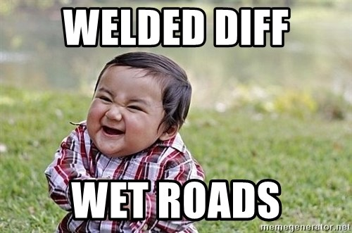 Evil Asian Baby - Welded diff Wet roads