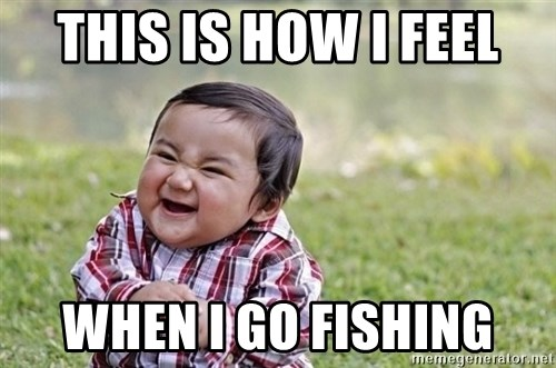 evil asian plotting baby - This is how I feel When I go fishinG