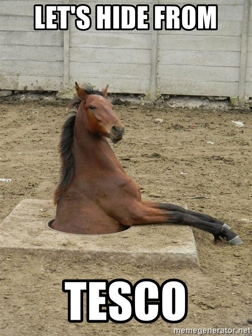 Hole Horse - LET'S HIDE FROM TESCO