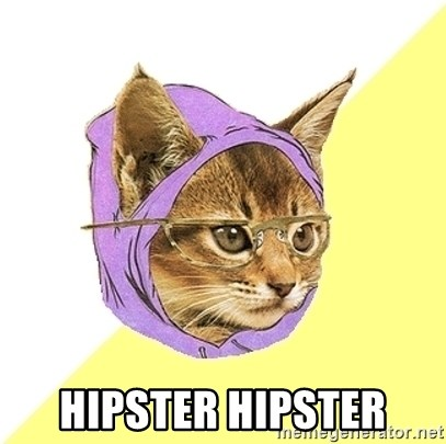 Hipster Kitty -  hipster hipster