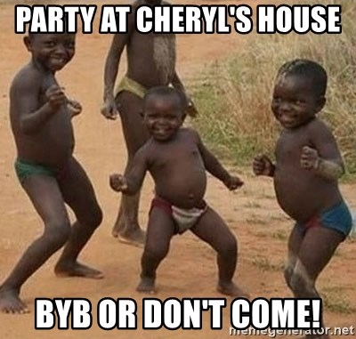 Dancing african boy - Party at Cheryl's house  Byb or don't come!