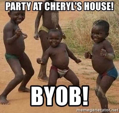 Dancing african boy - PArty at Cheryl's house! Byob!