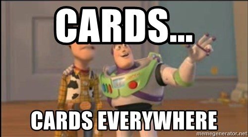 X, X Everywhere  - Cards... Cards everywhere