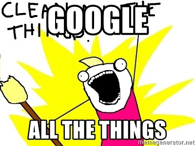 clean all the things - GOOGLE ALL THE THINGS