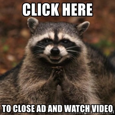 evil raccoon - CLICK HERE TO CLOSE AD AND WATCH VIDEO